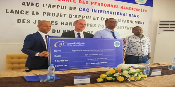 CAC International Bank donated 30 Class (F) driving licenses